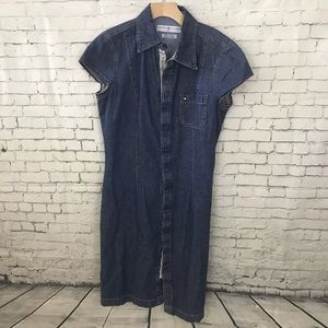 Tommy Hilfiger Denim Jean Button Dress